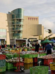 Fruit and Vegetable Market on a Sunday Morning Outside Te Papa, Wellington, New Zealand by Don Smith