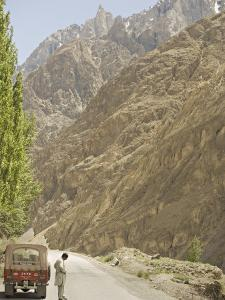 Gilgit Jeep and Driver on the Karakoram Highway or Kkh, Hunza, Pakistan by Don Smith