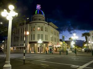 Lampost and Deco Clock Tower in the Art Deco City of Napier, North Island, New Zealand by Don Smith