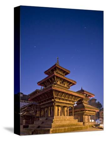 Orion in Sky at Dawn Above Pagoda Temple, Unesco World Heritage Site, Nepal