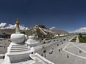 Panoramic View of the Potala Palace, Unesco World Heritage Site, Lhasa, Tibet, China by Don Smith