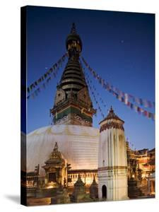 Swayambhunath Buddhist Stupa on a Hill Overlooking Kathmandu, Unesco World Heritage Site, Nepal by Don Smith