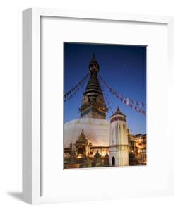 Swayambhunath Buddhist Stupa on a Hill Overlooking Kathmandu, Unesco World Heritage Site, Nepal by Don Smith
