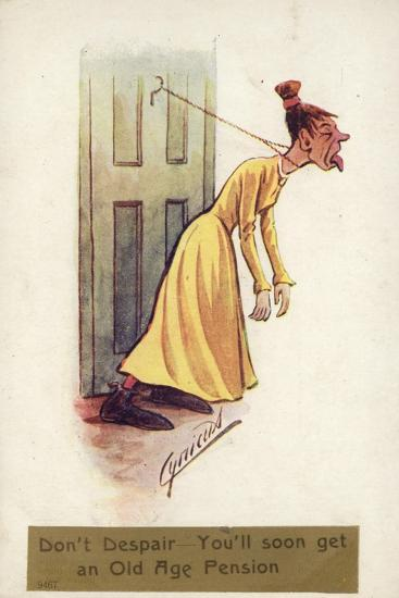 Don't Despair - You'Ll Soon Get an Old Age Pension--Giclee Print