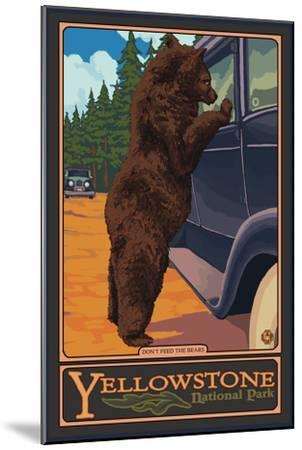 Don't Feed the Bears, Yellowstone National Park, Wyoming-Lantern Press-Mounted Premium Giclee Print