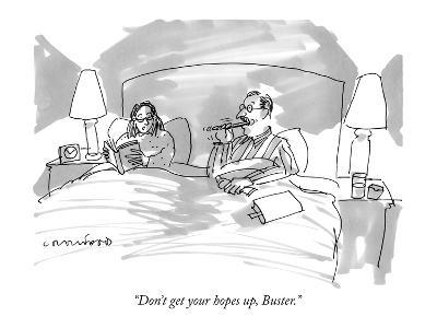 """""""Don't get your hopes up, Buster."""" - New Yorker Cartoon-Michael Crawford-Premium Giclee Print"""
