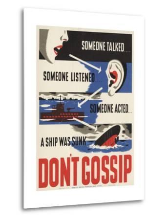 Don't Gossip Poster