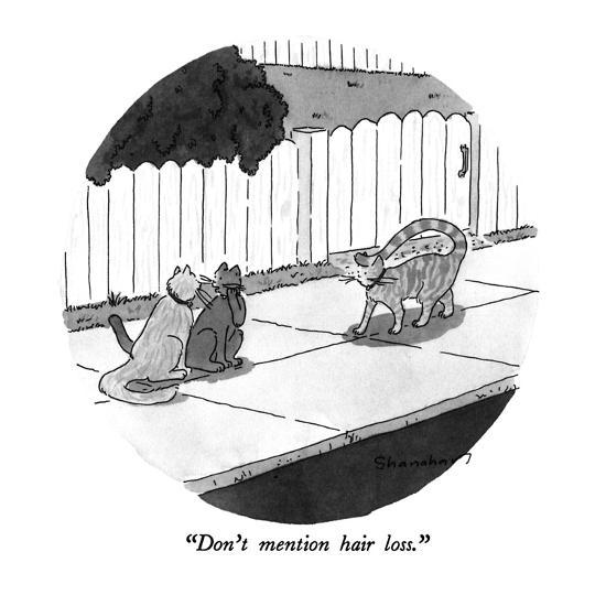Don T Mention Hair Loss New Yorker Cartoon Premium Giclee Print By Danny Shanahan Art Com