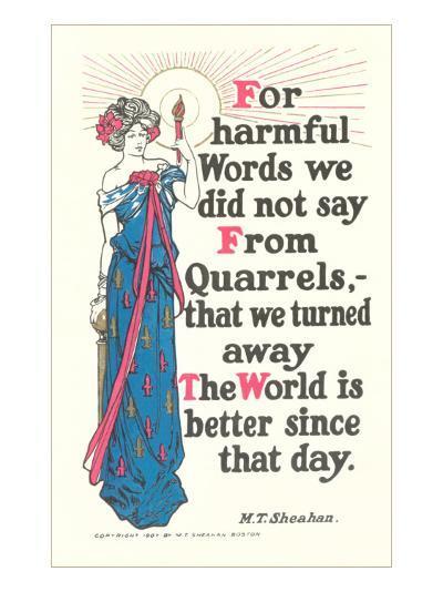 Don't Quarrel--Art Print