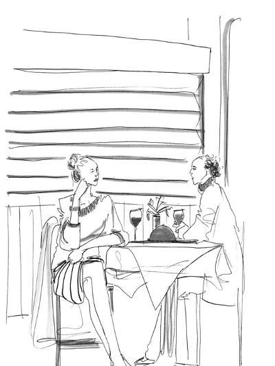 """Don't stop now!  I want to talk about your feelings all night."" - New Yorker Cartoon-Richard Cline-Premium Giclee Print"