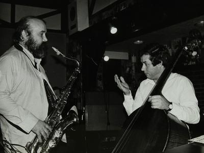Don Weller and Chris Laurence Playing at the Bell, Codicote, Hertfordshire, 1980-Denis Williams-Photographic Print