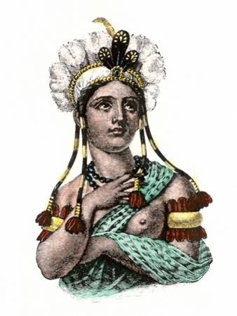 Dona Marina, Native Interpreter for Hernando Cortes in the Spanish Conquest of Aztec Mexico