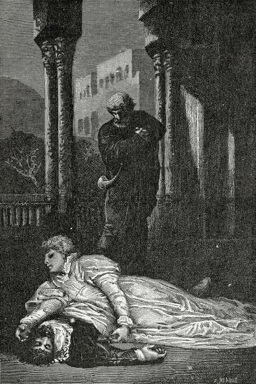 Dona Sol Dies on Hernani'S Corpse, 19th Century-Francois Nicolas Chifflart-Giclee Print