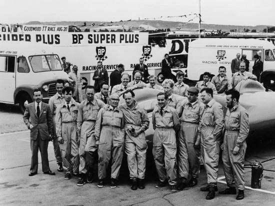 Donald Campbell and the Bluebird Team, Goodwood, 22nd July 1960--Photographic Print