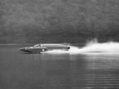 Donald Campbell in Bluebird K7, Coniston Water, Cumbria, 1958--Photographic Print