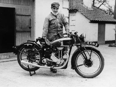 Donald Campbell Outside a Garage at Headley Grove, Surrey, 1938--Photographic Print