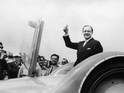Donald Campbell with the Bluebird CN7 at the Goodwood Trials, July 1960--Photographic Print
