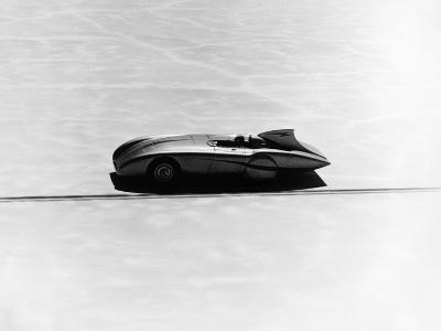 Donald Healey's Austin Healey Attempting a Land Speed Record, 1953--Photographic Print