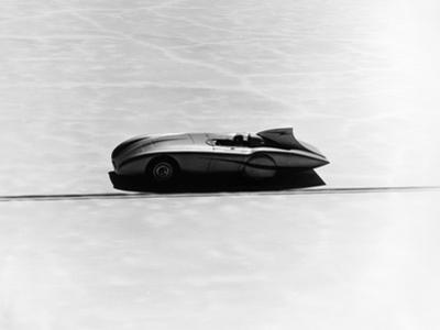Donald Healey's Austin Healey Attempting a Land Speed Record, 1953