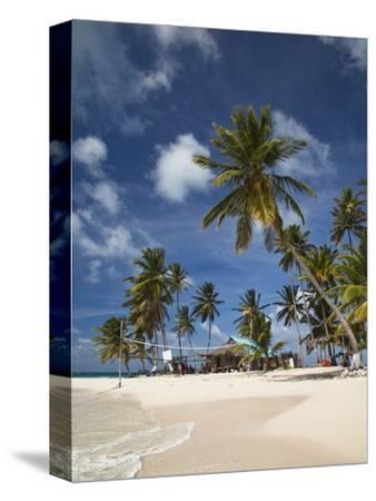 Beach and Palm Trees on Dog Island in the San Blas Islands, Panama, Central America