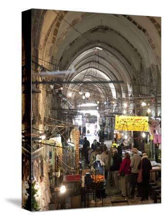 Marketplace in Covered Alleyway in the Arab Sector, Old City, Jerusalem, Israel, Middle East