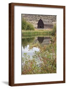Barn And Pond by Donald Paulson