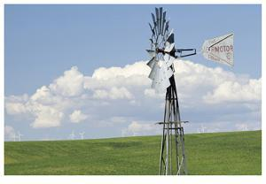 Old And New Windmills by Donald Paulson