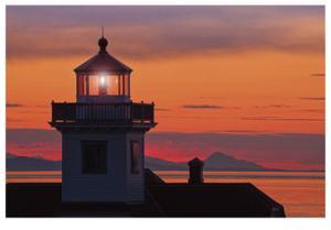 Patos Island Lighthouse V by Donald Paulson