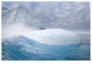Sea Sculpted Iceberg by Donald Paulson