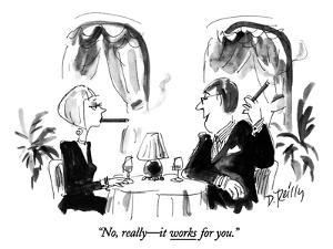"""""""No, really—it works for you."""" - New Yorker Cartoon by Donald Reilly"""