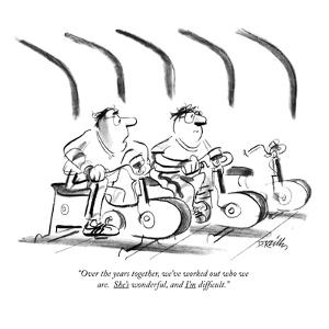 """""""Over the years together, we've worked out who we are.  She's wonderful, a?"""" - New Yorker Cartoon by Donald Reilly"""