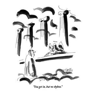 """""""You get in, but no skybox."""" - New Yorker Cartoon by Donald Reilly"""