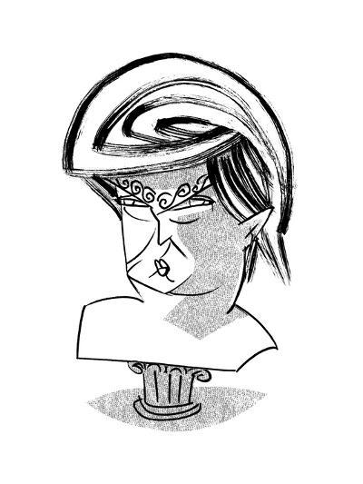 Donald Trump Bust - Cartoon-Tom Bachtell-Premium Giclee Print