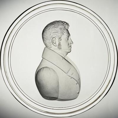 Glass Medallion with Portrait