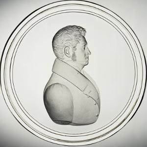 Glass Medallion with Portrait by Donat Nonotte