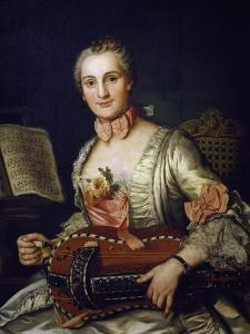 Lady Playing Hurdy-Gurdy, 1741 by Donat Nonotte