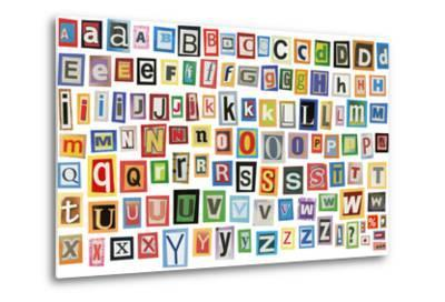 Colorful Alphabet Made Of Magazine Clippings And Letters . Isolated On White