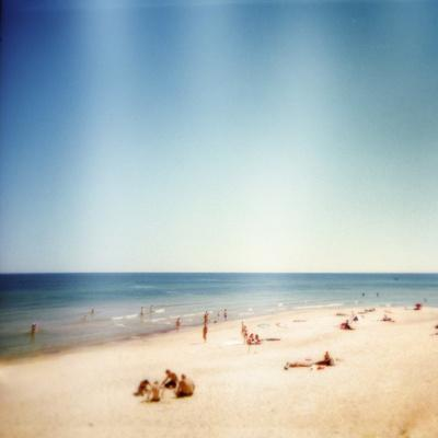 Designed Retro Photo: Sunny Day on the Beach
