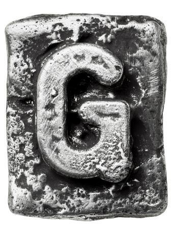 Metal Alloy Alphabet Letter G