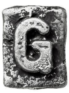 Metal Alloy Alphabet Letter G by donatas1205