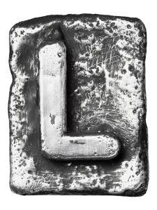 Metal Alloy Alphabet Letter L by donatas1205