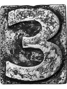 Metal Alloy Alphabet Number 3 by donatas1205