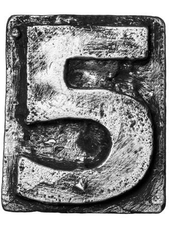 Metal Alloy Alphabet Number 5 by donatas1205