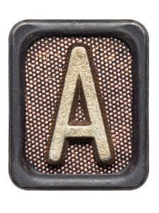 Metal Button Alphabet Letter A by donatas1205