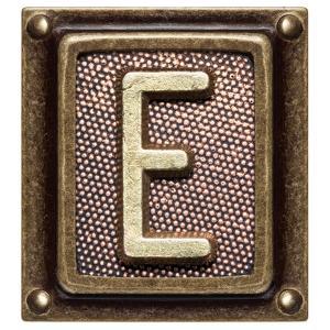 Metal Button Alphabet Letter E by donatas1205