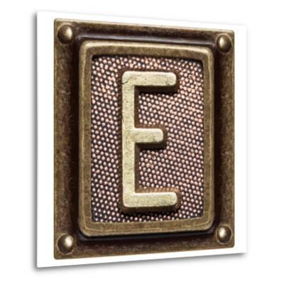 Metal Button Alphabet Letter E