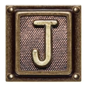 Metal Button Alphabet Letter J by donatas1205