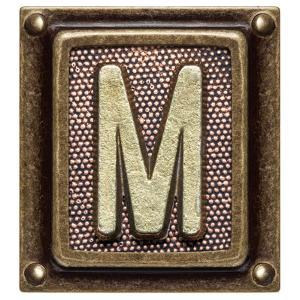 Metal Button Alphabet Letter M by donatas1205