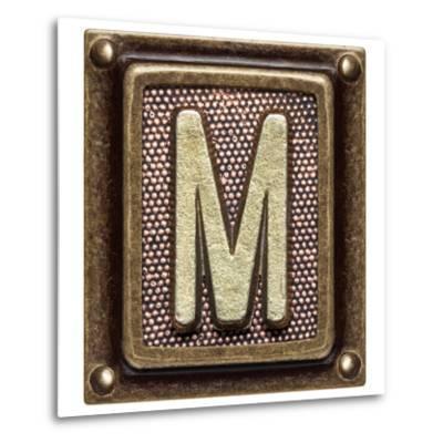 Metal Button Alphabet Letter M