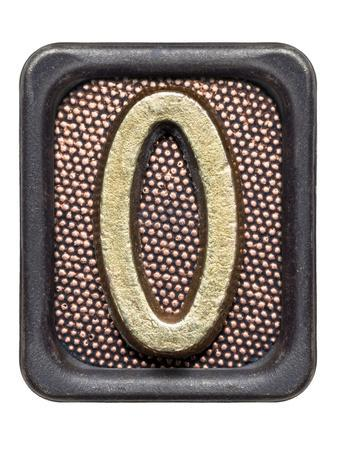 Metal Button Alphabet Letter O